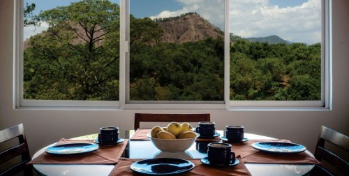 Dinning room with a view.